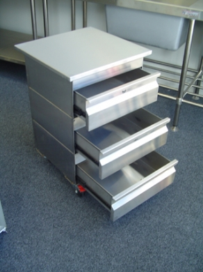 SS Mobile Drawer Unit & Work Top